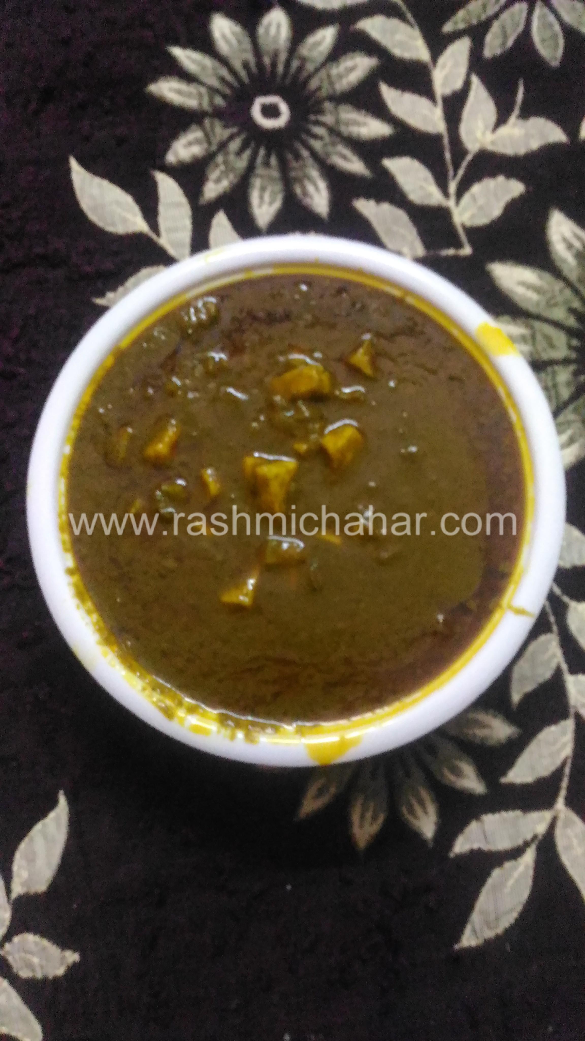 पालक पनीर की सब्जी बनाना | How to make Palak paneer sabji